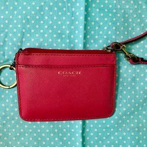 Coach - pink card/ID holder